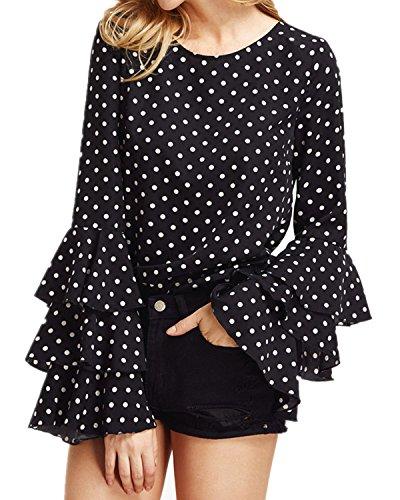 Victorian Sleeve Polka Dot Top