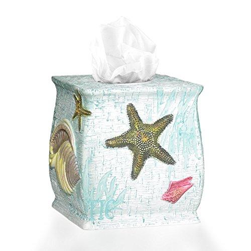 Popular Bath Tissue Box, Atlantic Collection, Aqua