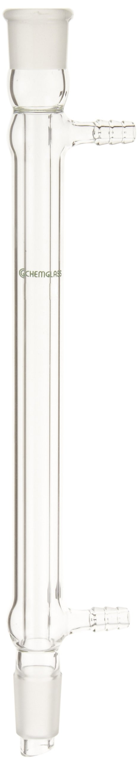 Chemglass CG-1220-24 Glass West Condenser, 200mm Jacket Length, 290mm Height, 19/22 Joint