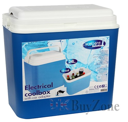 24L Large 12v Electric Cooler Box Camping Picnic...