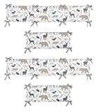 Sweet Jojo Designs 2-Piece Crib Bumper for Woodland Animals Collection