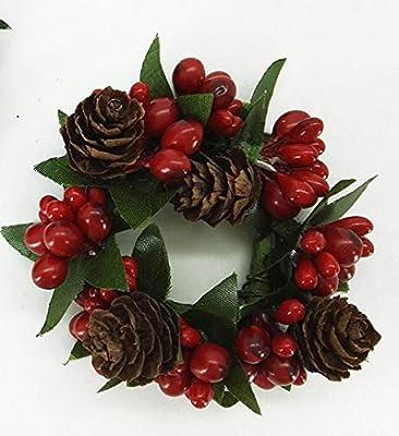 Vilys House Corona Decorada navideña para adornar Las Velas en ...