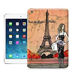 LarryToliver Beauty and the Eiffel Tower in Paris watercolor case battery cover for ipad mini