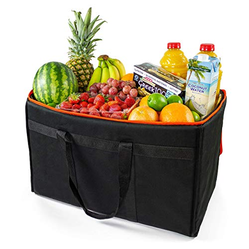 (Free Extra Dividers, Insulated Food Delivery Bag, Commercial Grade Food Delivery Bag, Reusable Catering Bag, (23''x 14''x 15''), Insulated Food Bags for Transport and Catering Services)