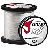 Daiwa J-Braidx8 JB8U150-2500WH 150 lbs Test, White, 2500 Meters/2735 Yards