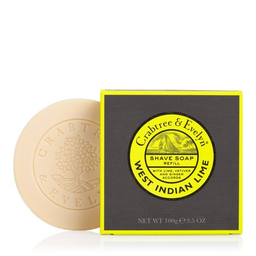 Crabtree & Evelyn Shave Soap Refill, West Indian Lime