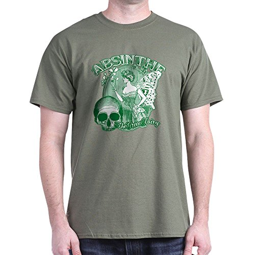 ollage Lady With Skull - 100% Cotton T-Shirt (Absinthe Green Fairy Shirt)