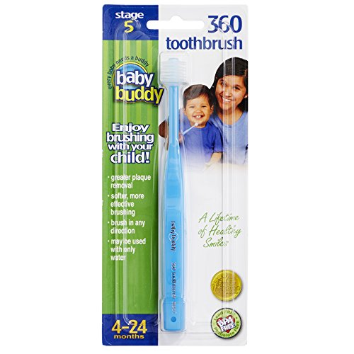 Baby Buddy 360 Toothbrush Step 1 Stage 5 for Babies/Toddlers , Kids Love Them, Blue