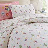 Wildkin Twin Duvet Cover, Super Soft 100% Cotton Twin Duvet Cover with Button Closure, Coordinates with Other Room Décor, Olive Kids Design – Fairy Princess