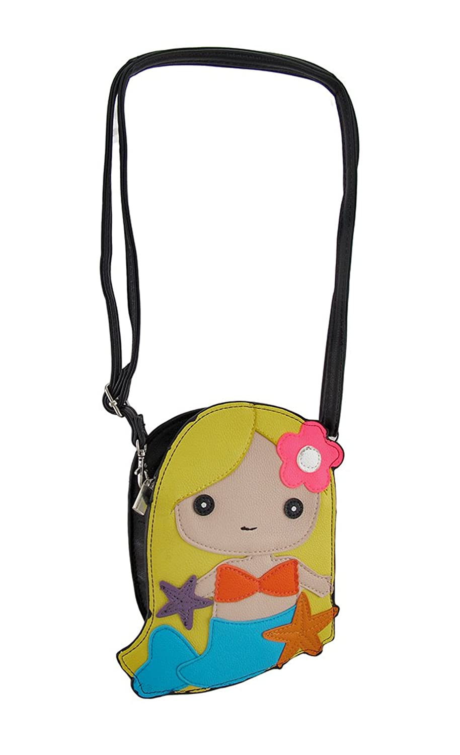 Adorable Colorful Mermaid Girl Crossbody Purse