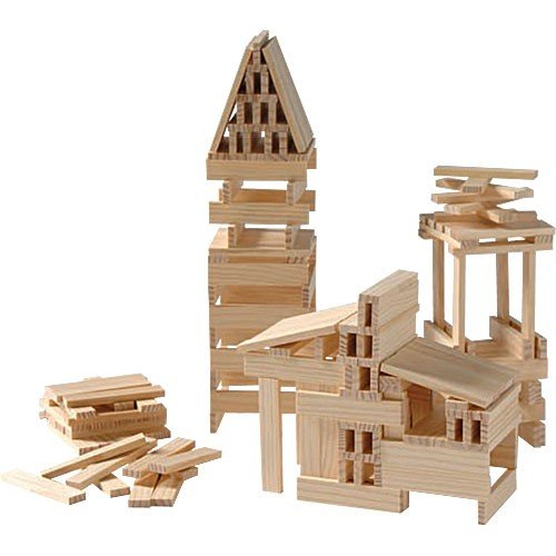Constructive Playthings CIT-200 Structural Planks - Identical Wooden Building Pieces - 200 pc. Set -