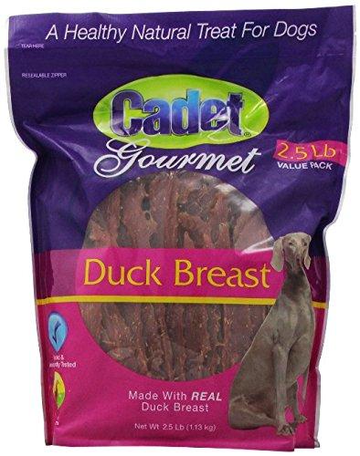 Cadet Gourmet Jerky Natural Dog Treats, Duck, 2.5 pounds