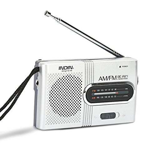 Portable Pocket Mini Radio, SStechi BC-R21 FM/AM Operated by 2 AA Battery with Headphone Jack Port Radio. Designed for Life and Convenience (Sliver)