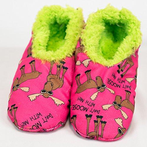 LazyOne Women's Fuzzy Feet Slipper Socks (S/M, Don't Moose With - Dont Moose