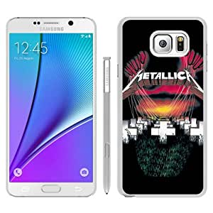 Durable High Quality Metallica Master Of Puppets White Samsung Galaxy Note5 Screen Phone Case