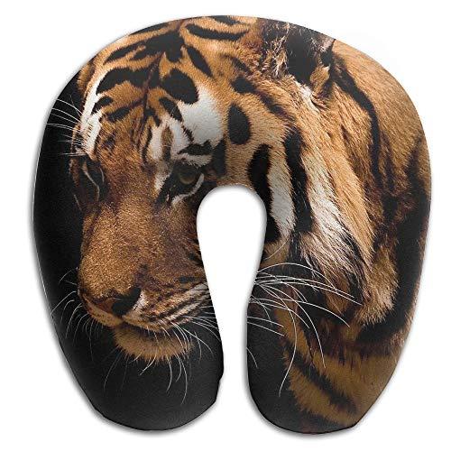 DMN U-Shaped Neck Pillow Black Tigers Pillows Soft Portable For Travel Reading Sleeping