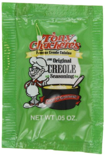 Tony Chachere Original Creole Seasoning, 0.05-Ounce, 1000-Count Bags by Tony Chachere's