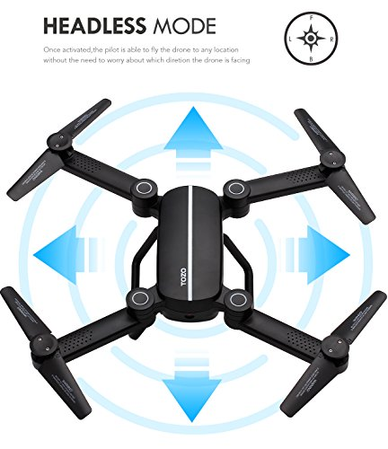 TOZO Q1012 X8tw Drone RC Quadcopter Altitude Hold Headless RTF 3D 360 Degree FPV Video WiFi 720P HD Camera 6 axis 4CH 2.4Ghz Height Hold Easy Fly Steady for Learning, Black