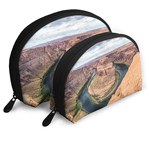 (Horseshoe Bend Colorado River Landscape Gift Shell Portable Bags Clutch Pouch Cosmetic Makeup Bag Pouch)