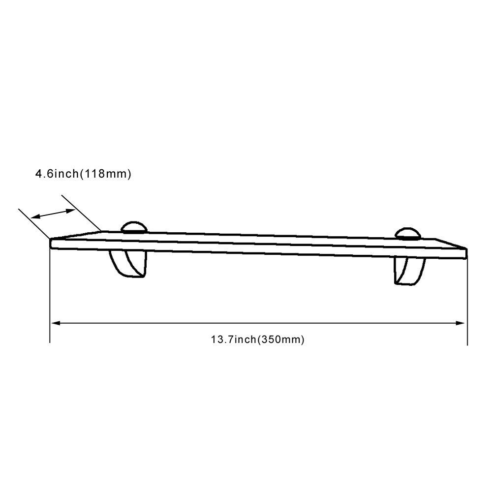 Brushed Nickel GS3004A-G XVL 14-Inch Bathroom Glass Shelf