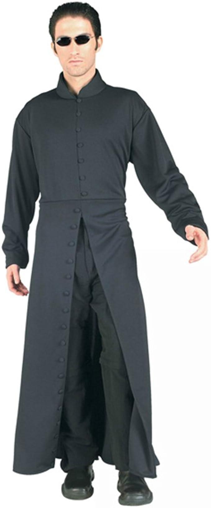 The Matrix Neo Cosplay Costume Black Trench Coat Custom Made NEW