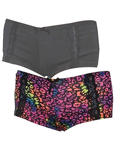 (Pack of 2) XOXO Frauen Soft Boy Shorts Underwear Panties Multicolor