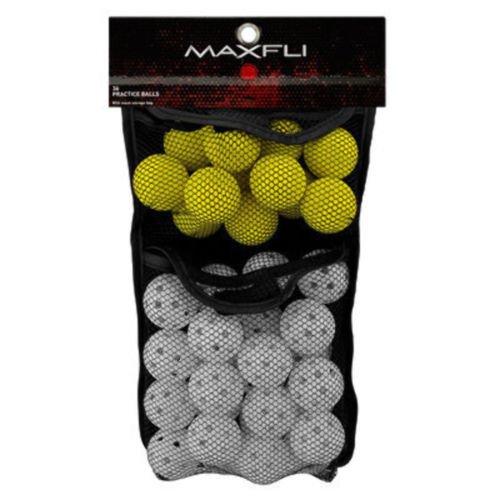 Maxfli Foam Wiffle Practice Golf Balls w/Mesh Storage Bag - 12 Foam - 24 Wiffle - 36 Pack