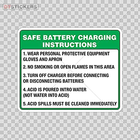 Amazon Sticker Safe Battery Charging Instructions 1 Wear