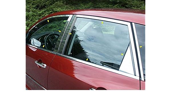 MIRROR CHROME DOOR PILLARS FITS MAZDA 3 2004-2009 SEDAN ONLY