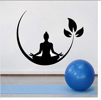 Amazon.com: JQSM Wall Sticker Decal,Yoga Meditation Vinyl ...