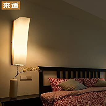 Yposion minimalist japanese wall lights korean style tatami aisle yposion minimalist japanese wall lights korean style tatami aisle bedroom light wooden bedside lamp led lamps aloadofball Images