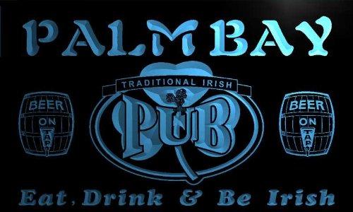 Shamrock Bay - pa2317-b Palm Bay Irish Shamrock Home Pub Bar Beer Neon Light Sign