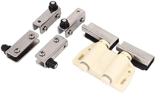 X-Dr Gabinete de vidrio Puerta corrediza Empuje magnético para abrir Tapa del pestillo del toque w Clip Clamp (b2aa8152161ba7abb9448f8874ea03c2): Amazon.es: Bricolaje y herramientas