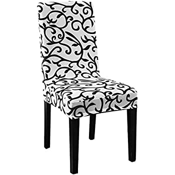 Uxcell Stretchy Dining Chair Cover Short Chair Covers Washable Protector  Seat Slipcover For Wedding Party Restaurant
