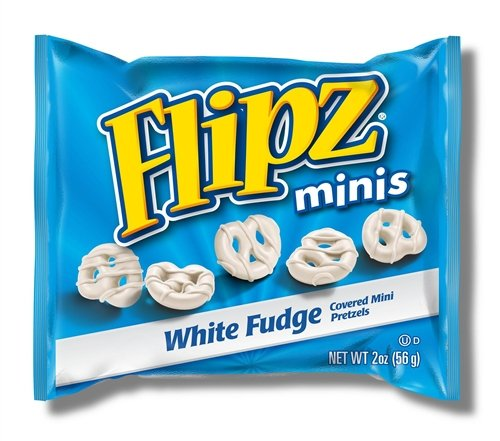 Flipz, White Fudge Minis, 2.0 oz. Bags