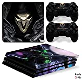AmorFati PS4 PRO Playstation 4 PRO Console Skin Decal Sticker - OverWatch + 2 Controller Skins Set