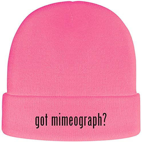One Legging it Around got Mimeograph? - Soft Adult Beanie Cap, Pink