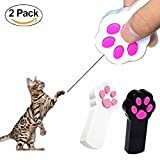 Cat Catch The Interactive LED Light Pointer Paw Style Cat Toys Red Pot Exercise Chaser Toy Pet Scratching Training Tool (Pack of 2)