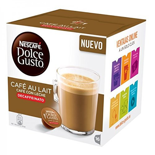dolce gusto decaffeinato  Nescafe DOLCE GUSTO Pods / Capsules - CAFE AU LAIT DECAF = 16 pods ...