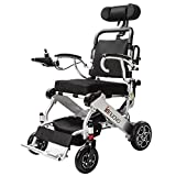2018 NEW FDA Approval Electric Wheelchair - weighs only 50 lbs with battery - supports 330 lb. New upgraded with more secure and stable.Power Chair Optional headrest available.