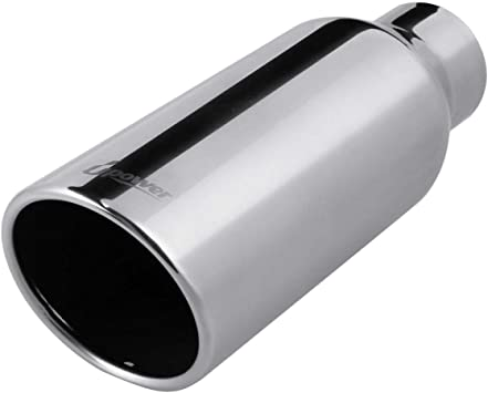"2.5/""//3/""//4/""//5/"" Inlet 6/""//12/""//15/"" Long Diesel Exhaust Tip Chrome Stainless Steel"