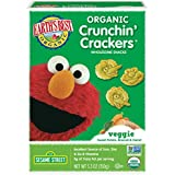 Earth's Best Organic Sesame Street Toddler Crunchin' Crackers, Veggie, 5.3 oz. Box (Pack of 6)