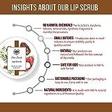 Seer Secrets Summer All Natural Vegan Lip Scrub for Chapped Lips - Organic Ingredient Rambutan & Dates - Gentle Exfoliation Lip Moisturizer & Conditioner for Dry Lips for Him Her