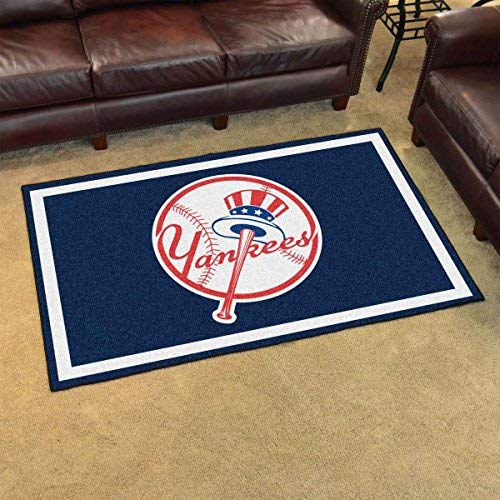 Fanmats 22342 MLB-New York Yankees Primary Logo 4'x6' Rug by Fanmats (Image #2)