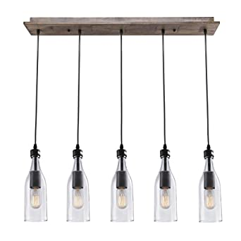 lnc wood pendant lighting 5light ceiling lights linear chandelier lighting