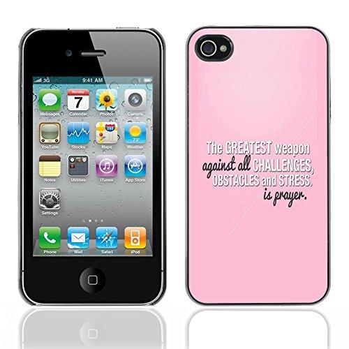 Bible Case Cas Coque Case Apple iPhone 4 / 4S / THE GRAETEST WEAPON IS PRAYER /