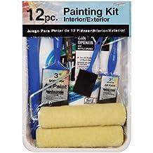 Gam Paint Brushes PT03362 12-Piece Roller Paint Kit, Blue