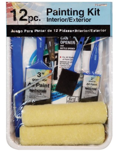 Gam Paint Brushes PT03362 12-Piece Roller Paint Kit Blue ()