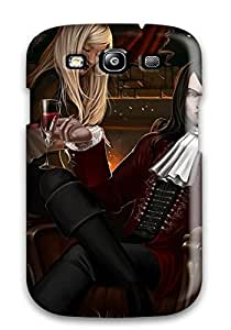 Galaxy S3 Case Cover - Slim Fit Tpu Protector Shock Absorbent Case (vampire Fantasy Abstract Fantasy)