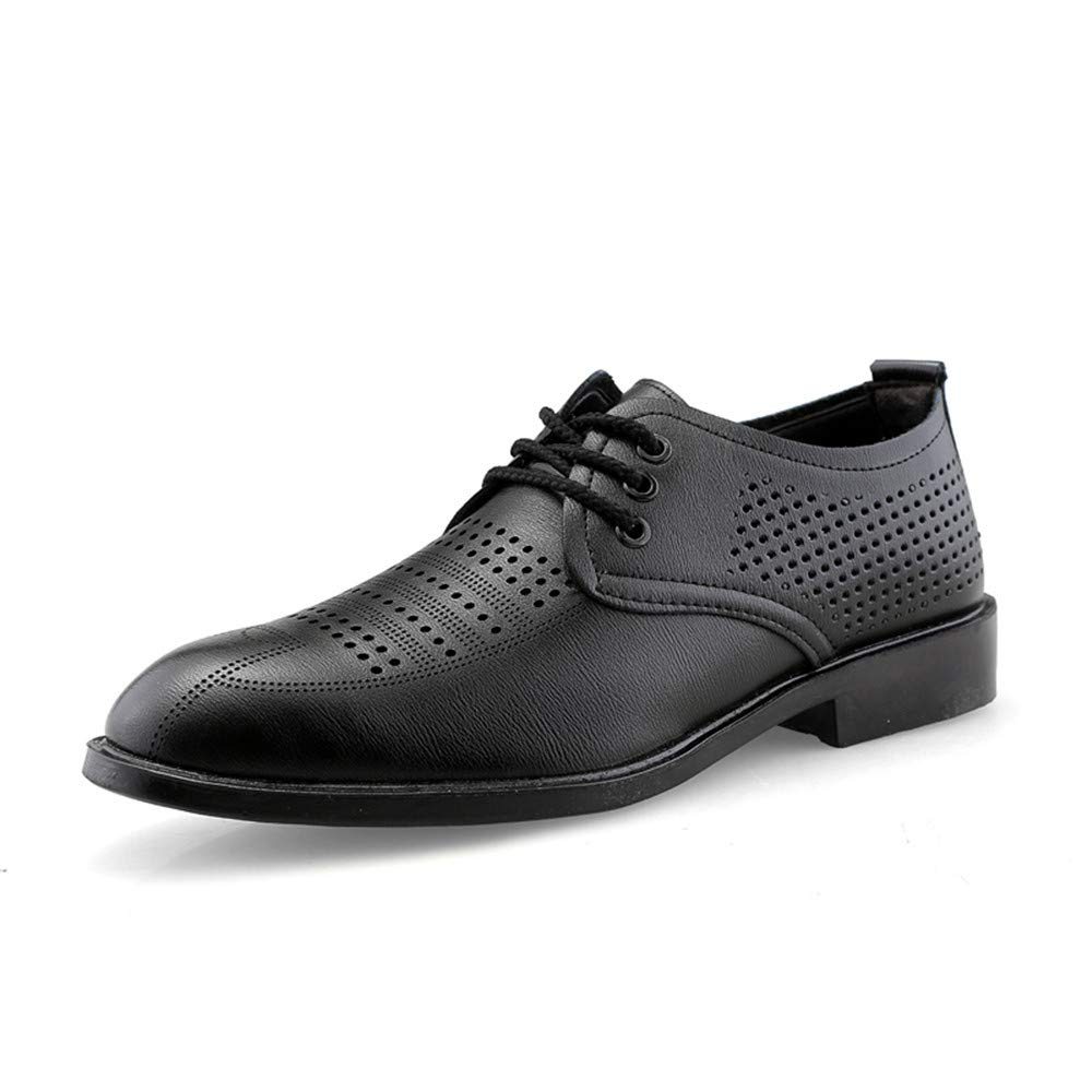 JIALUN-Scarpe Moda Uomo Business Oxford Casual Summer New Hollow Tinta Unita Antiscivolo Scarpe Inferiori morbide